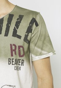 Key Largo - Print T-shirt - khaki - 4