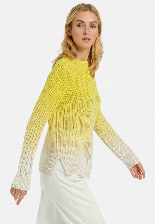 Pullover - gelb/natur