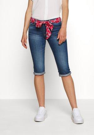 MANDY - Denim shorts - blue