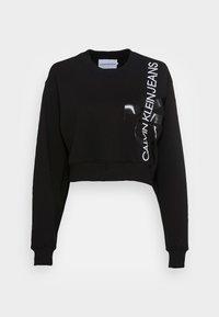 VERTICAL MONOGRAM CREW NECK - Sweater - black