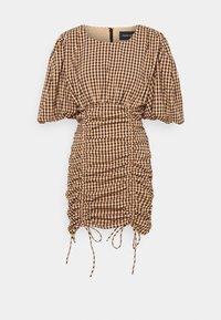 Mossman - THE CHECKED OUT MINI DRESS - Vestido informal - orange/black - 3
