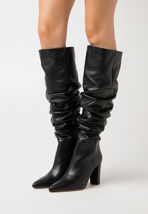 ISLAY - Kozačky na vysokém podpatku - black