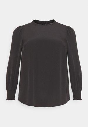 PLAIN SHIRRED CUFF - Blouse - black