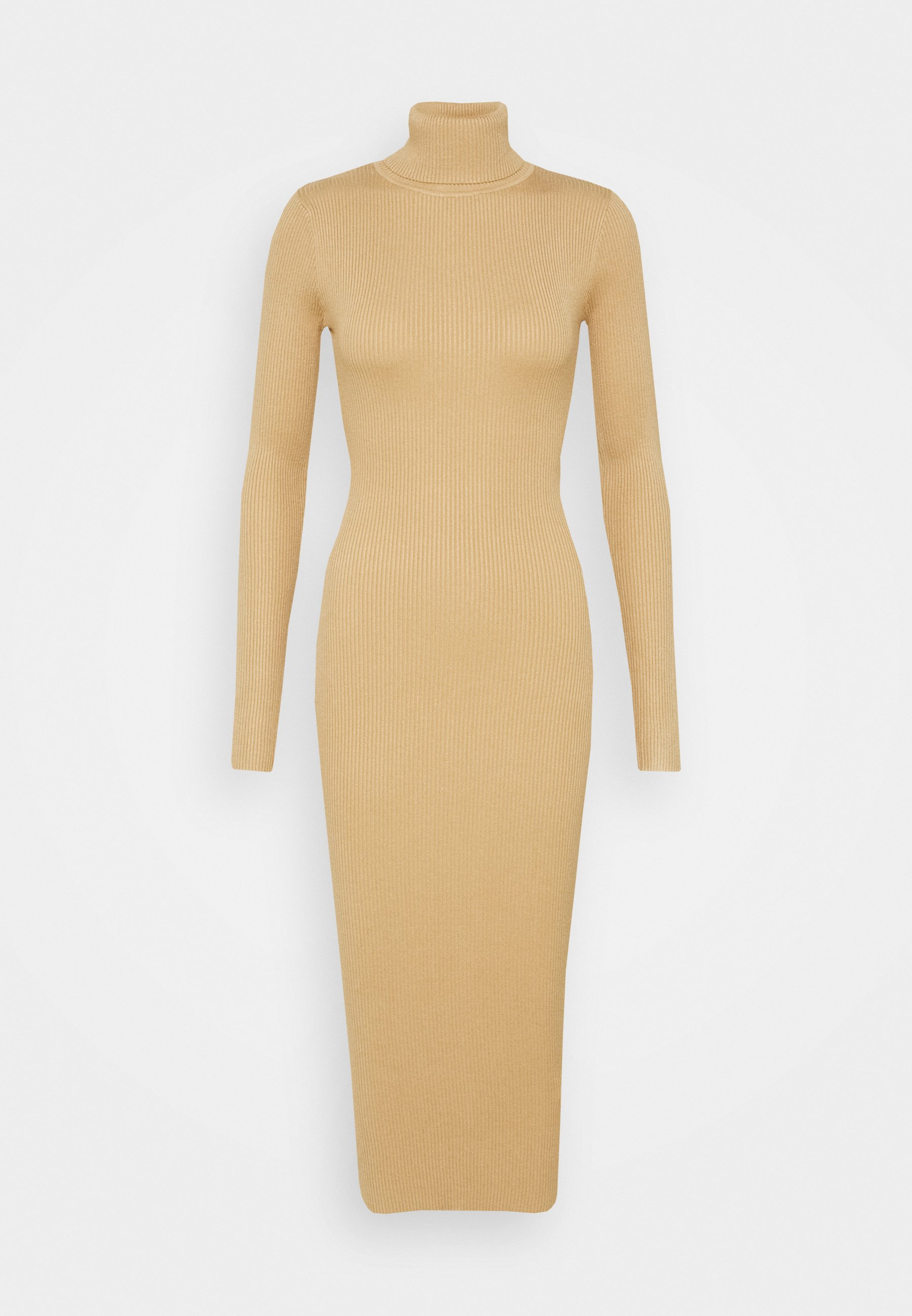 Women ROLL NECK KNITTED MIDI DRESS - Jumper dress