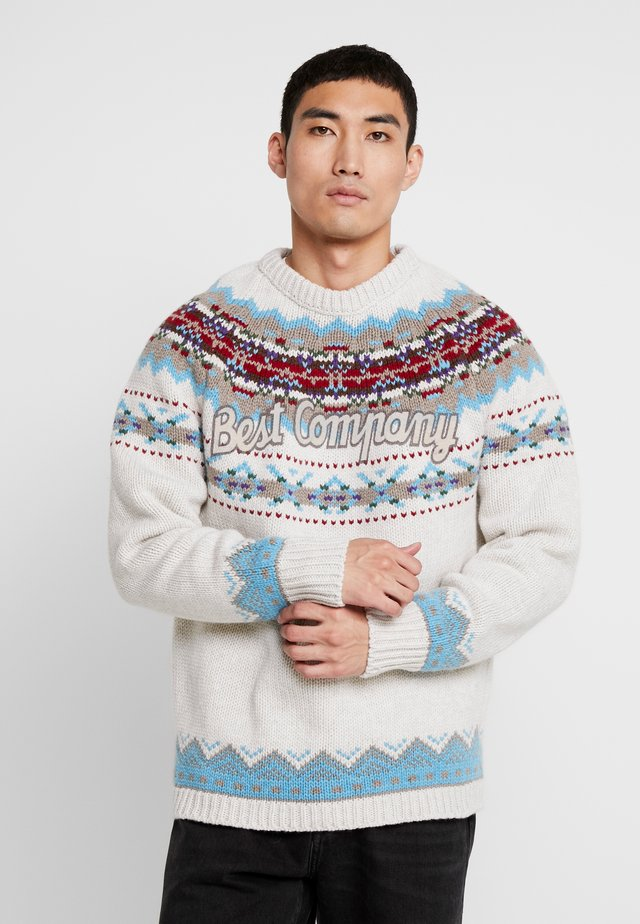 CREW NECK FIN - Stickad tröja - sabbia