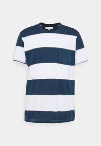 Far Afield - BOLD STRIPE - T-shirt print - ensign blue - 0