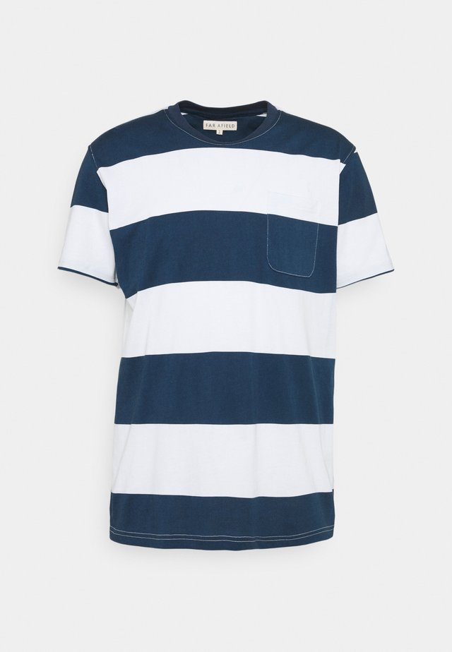 BOLD STRIPE - Print T-shirt - ensign blue