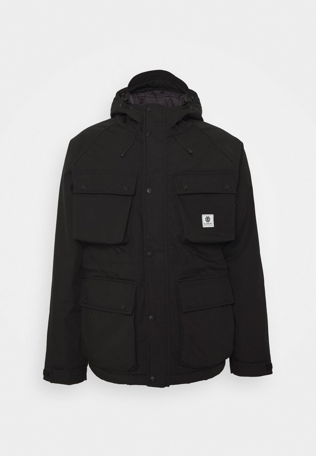 MOUNTAIN PARKA - Vinterjakke - flint black