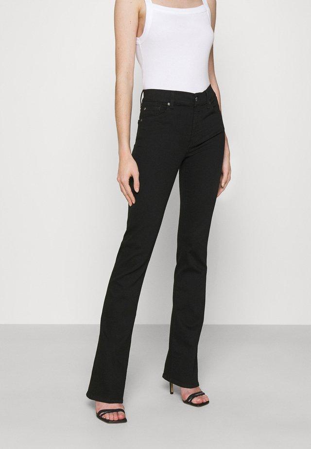 BOOTCUT RINSED - Jean bootcut - black