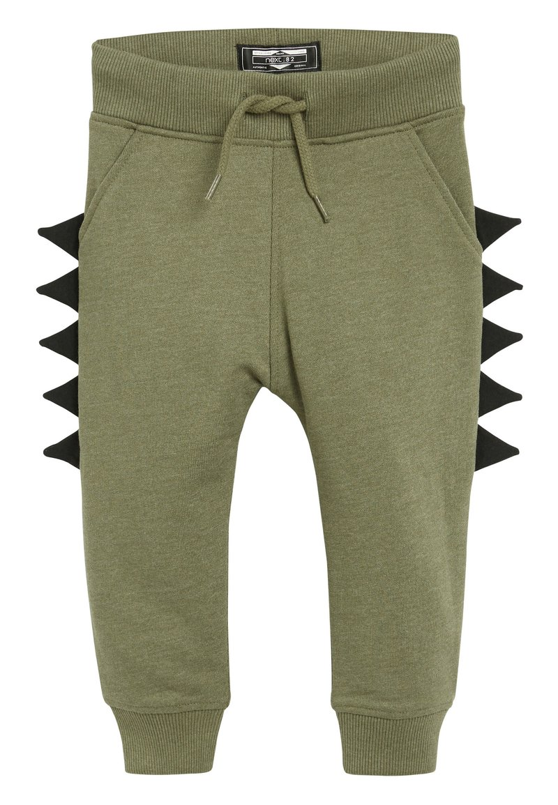Next - KHAKI DINO SPIKE JOGGERS (3MTHS-7YRS) - Tracksuit bottoms - green