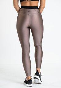 Zoe Leggings - Trikoot - bronze - 2