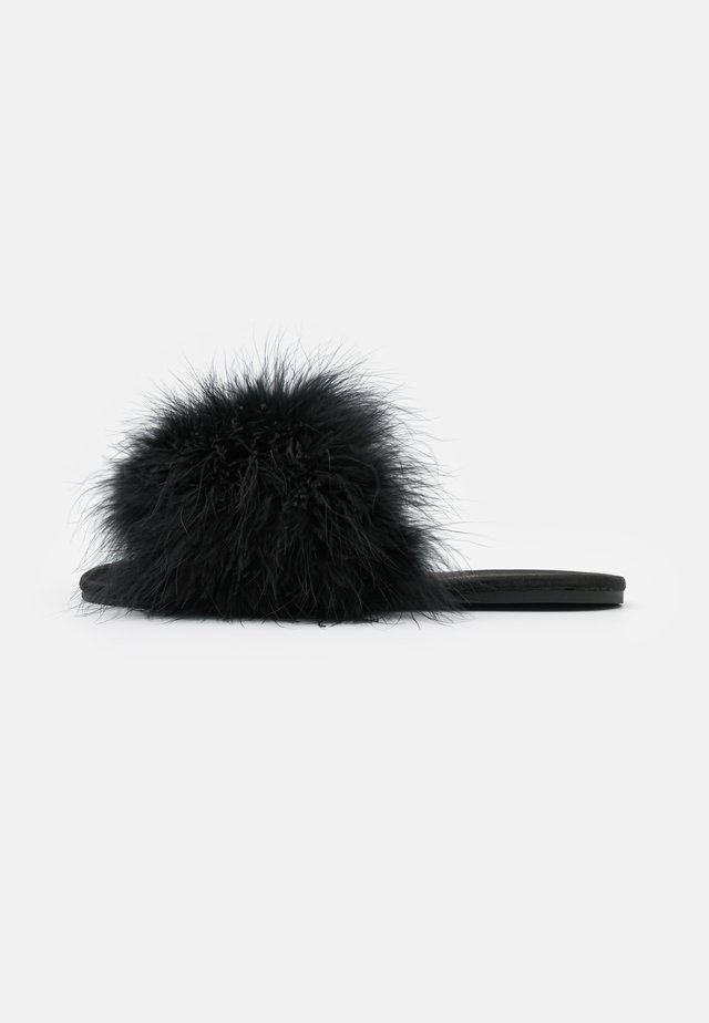 FLUFFY - Pantofle - black