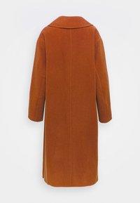 Proenza Schouler White Label - DOUBLEFACE COAT WITH SIDE SLITS - Classic coat - chestnut - 9