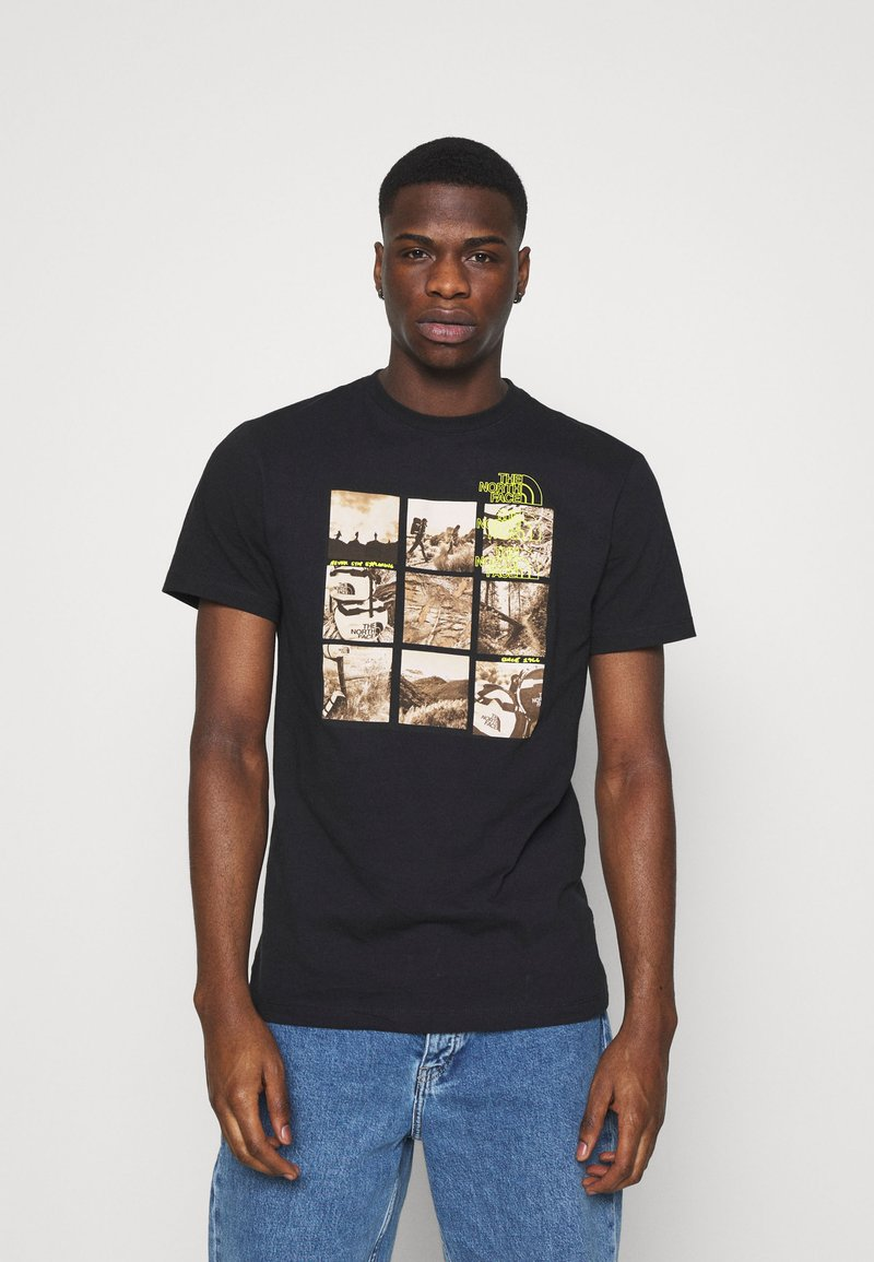 The North Face - BASE FALL GRAPHIC TEE - Print T-shirt - black