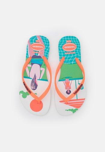 SLIM STYLE MIX - Pool shoes - white/orange cyber fluor
