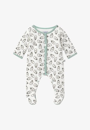 DORSBIEN - Sleep suit - white/green