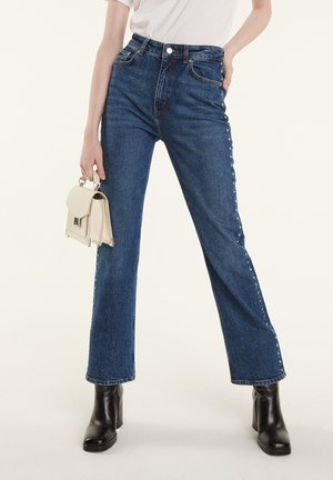Straight leg jeans - blue washed