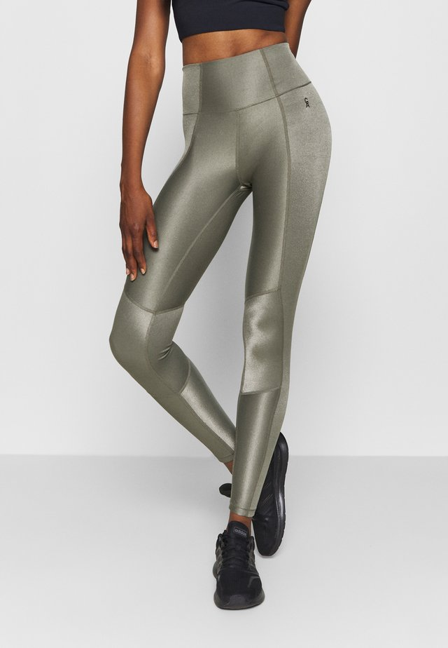 THE SHINY LEGGING - Collant - sage