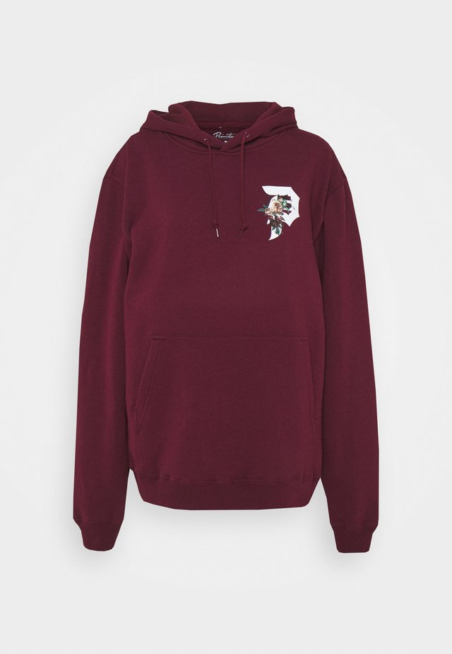 DIRTY P TRIBUTE HOOD - Felpa - maroon