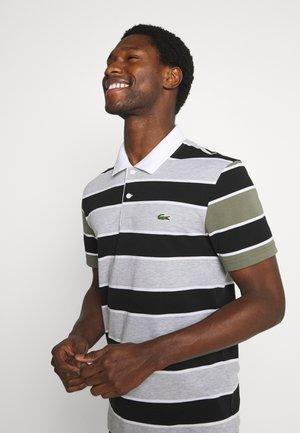 Poloshirt - argent/noir/blanc