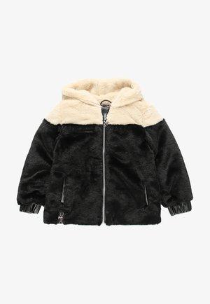 MIT FELL UND MÜTZE FÜR MÄDCHEN - Winter jacket - black