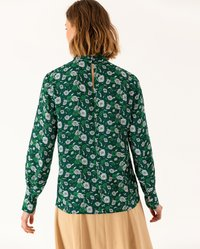 IVY & OAK - STAND UP COLLAR BLOUSE - Blouse - evergreen - 2