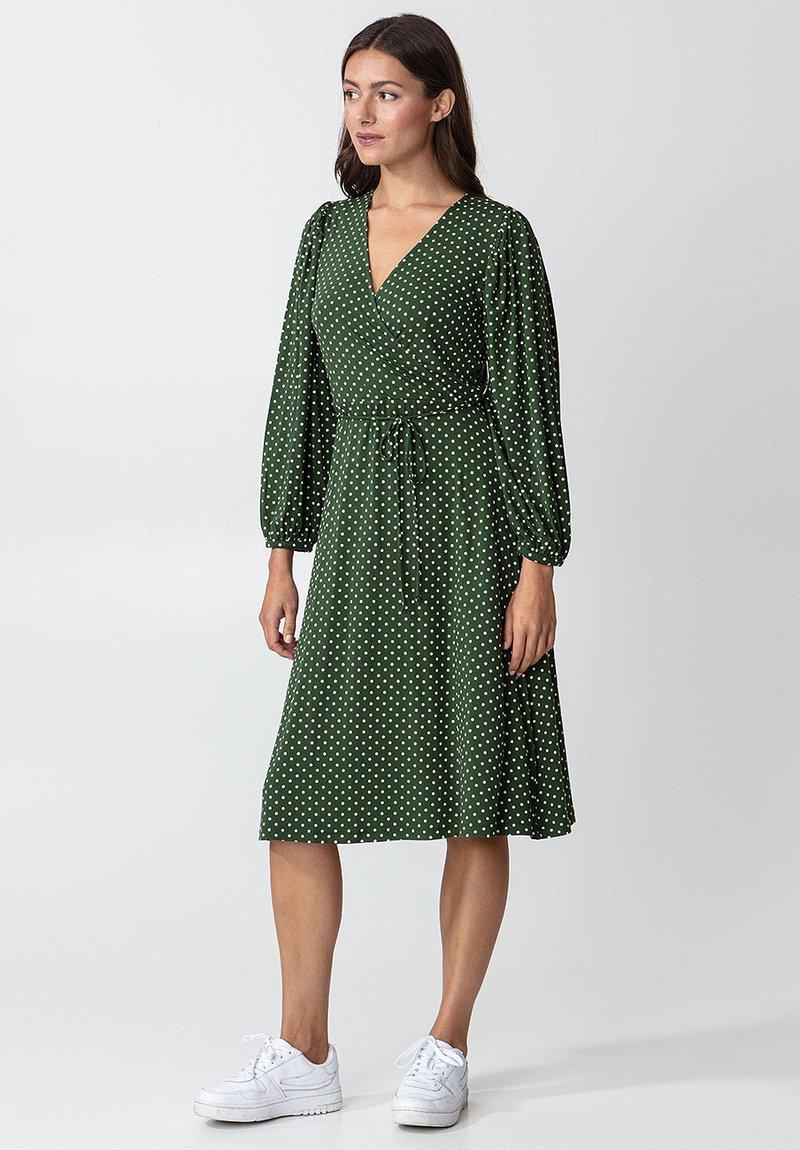 Indiska - SENJA LS - Jersey dress - green