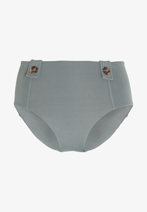 ACTIVEHIGH WAISTED BUTTONS - Bikini bottoms - oliveleaf