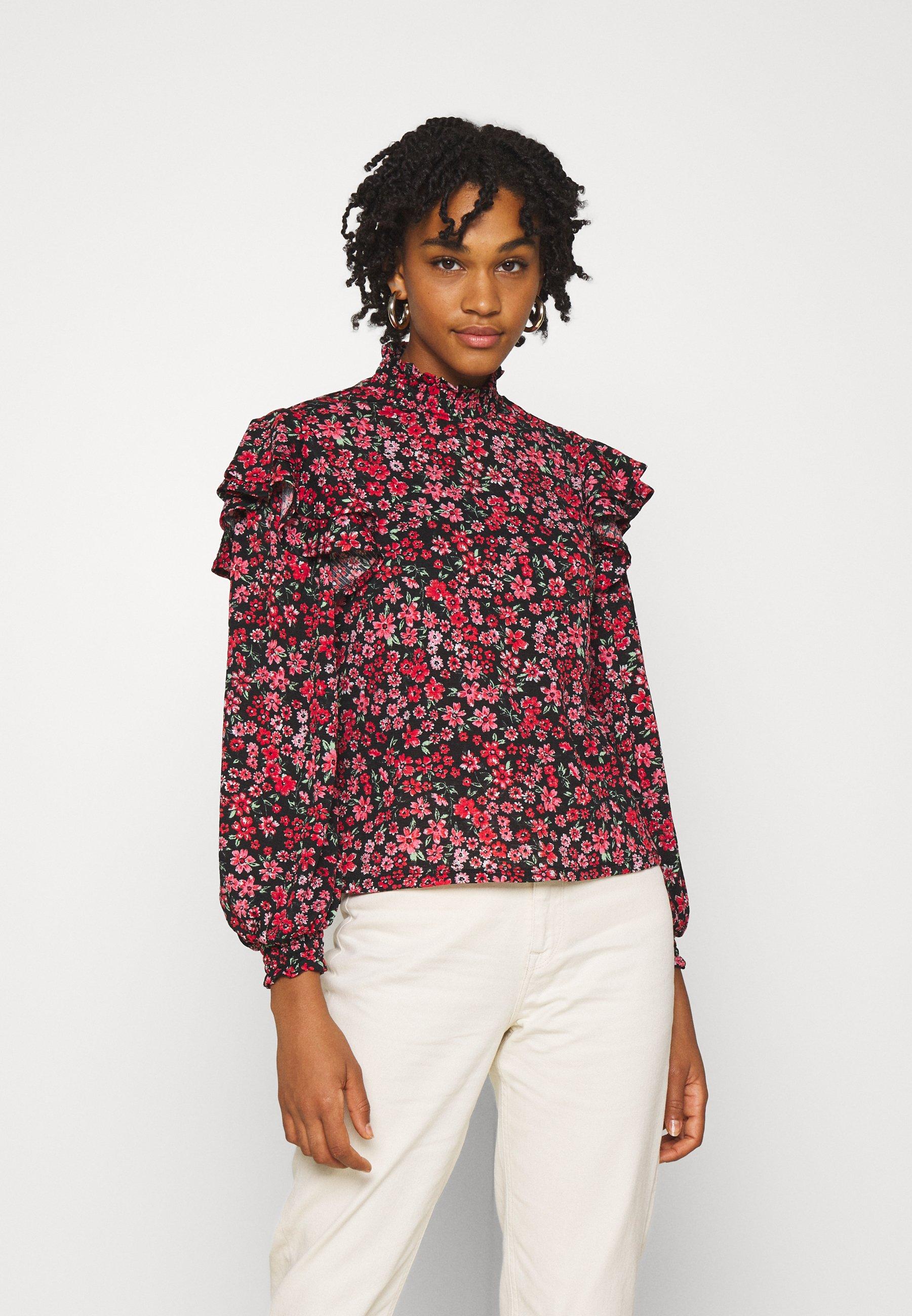 Women ONLPELLA HIGH NECK FRILL - Long sleeved top