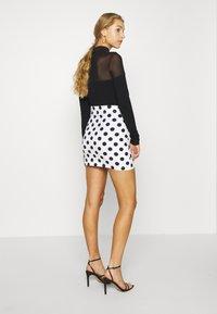 Even&Odd - Mini skirt - white/black - 2