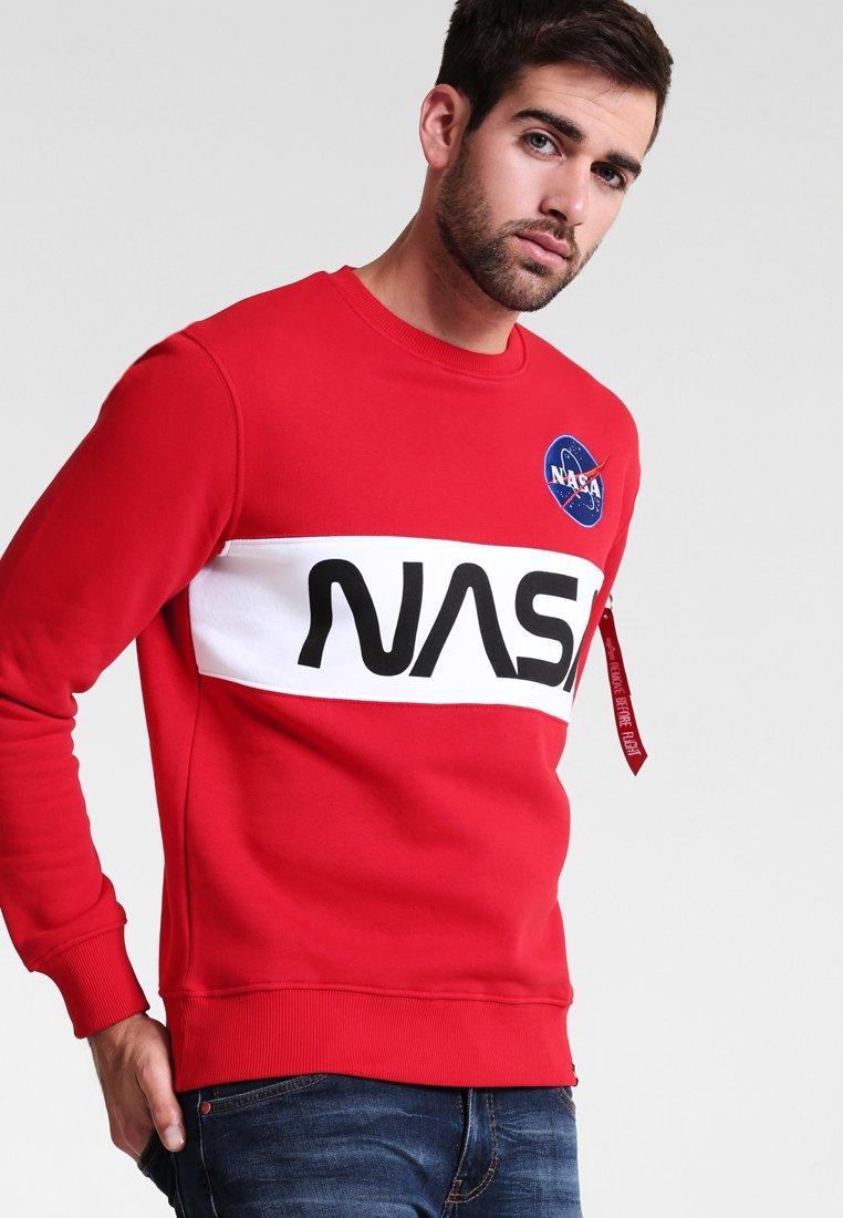 Alpha Industries - NASA INLAY  - Sweatshirt - speed red