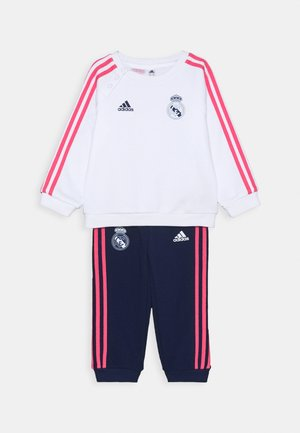 REAL MADRID FOOTBALL TRACKSUIT BABY SET - Fanartikel - white/dark blue