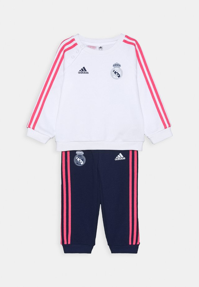 REAL MADRID FOOTBALL TRACKSUIT BABY SET - Article de supporter - white/dark blue