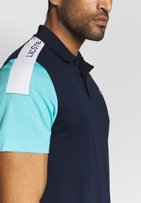 Lacoste Sport - TENNIS - Sports shirt - navy blue/haiti blue/white - 5