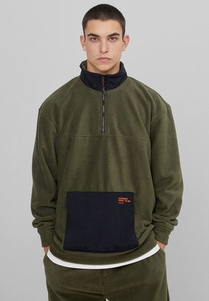 Fleece jacket - khaki