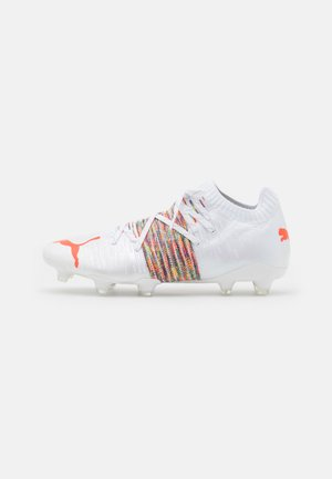 FUTURE Z 1.1 FG/AG - Moulded stud football boots - white/red blast