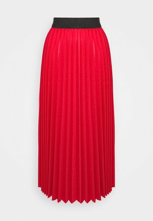 MONICA PLEATED SKIRT - A-Linien-Rock - red