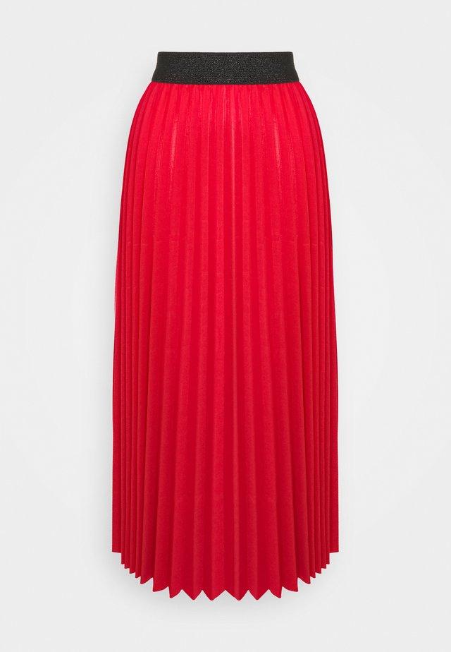 MONICA PLEATED SKIRT - A-line skirt - red