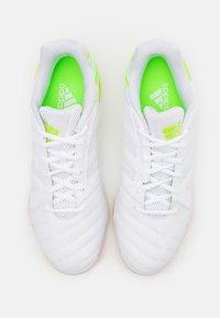 adidas Performance - TOP SALA - Indoor football boots - footwear white/signal green - 3