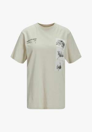 JXBEA FLOWER PRINT - Print T-shirt - moonbeam