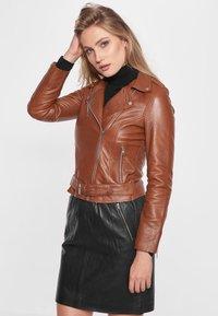 BTFCPH - EMMA - Leather jacket - cognac - 3