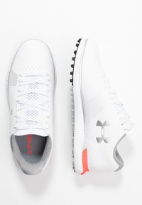 Under Armour - HOVR FADE - Scarpe da golf - white/beta/metallic silver - 1