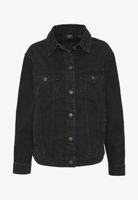 VMKATRINA LOOSE JACKET MIX - Denim jacket - black