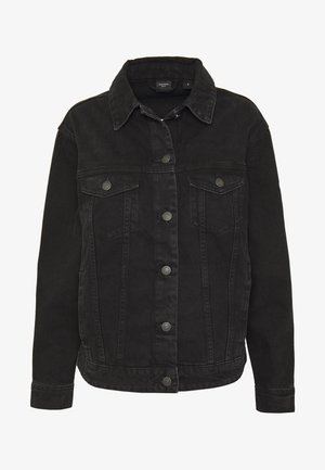 VMKATRINA LOOSE JACKET MIX - Denim jacket - black