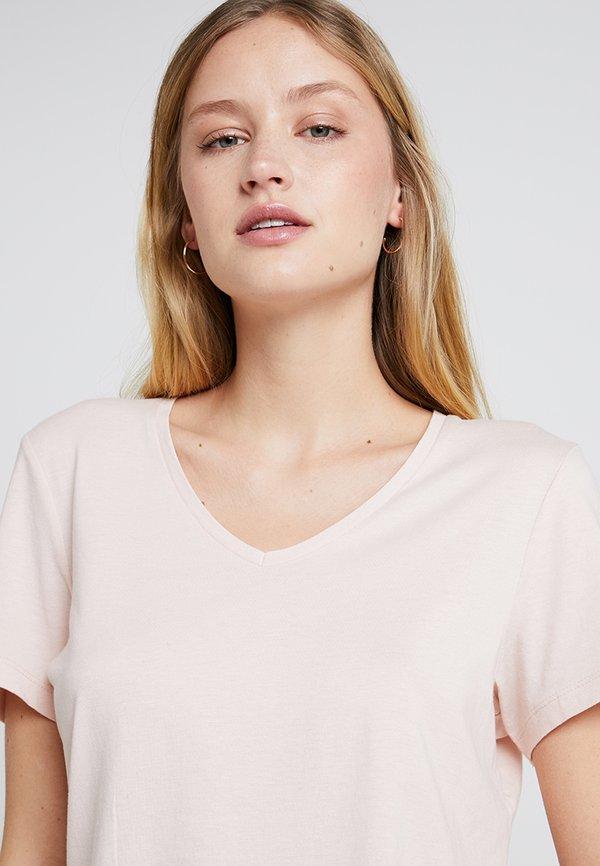 Cream NAIA - T-shirt basic - sunshine rose Kolor jednolity Odzież Damska QLXI LD 4