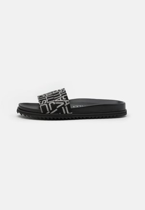 Mules - black/grey
