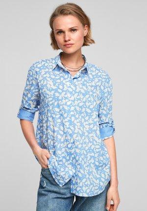 Button-down blouse - blue lagoon aop