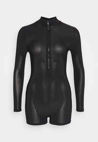 Missguided Petite - ZIP FRONT UNITARD - Overal - black - 0
