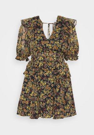 SHIRRED WAIST DITSY MINI - Denní šaty - multi-coloured