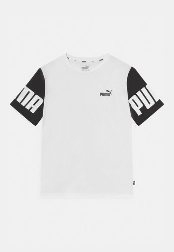 POWER COLORBLOCK TEE UNISEX - Print T-shirt - white